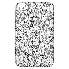 Black Psychedelic Pattern Samsung Galaxy Tab 3 (8 ) T3100 Hardshell Case