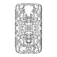 Black Psychedelic Pattern Samsung Galaxy S4 Classic Hardshell Case (pc+silicone)