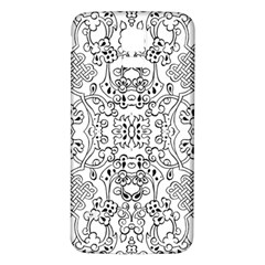 Black Psychedelic Pattern Samsung Galaxy S5 Back Case (white)