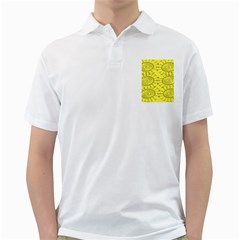 Yellow Flower Floral Circle Sexy Golf Shirts