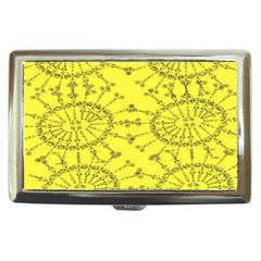 Yellow Flower Floral Circle Sexy Cigarette Money Cases