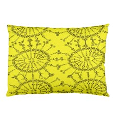 Yellow Flower Floral Circle Sexy Pillow Case