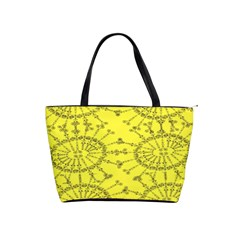 Yellow Flower Floral Circle Sexy Shoulder Handbags