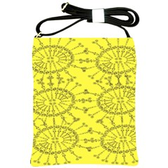 Yellow Flower Floral Circle Sexy Shoulder Sling Bags