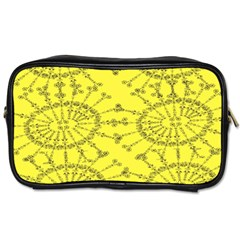 Yellow Flower Floral Circle Sexy Toiletries Bags