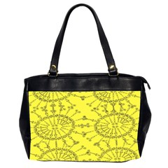 Yellow Flower Floral Circle Sexy Office Handbags (2 Sides)