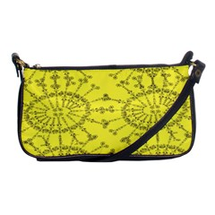 Yellow Flower Floral Circle Sexy Shoulder Clutch Bags