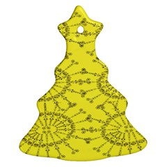 Yellow Flower Floral Circle Sexy Ornament (christmas Tree)