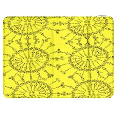 Yellow Flower Floral Circle Sexy Samsung Galaxy Tab 7  P1000 Flip Case