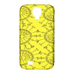 Yellow Flower Floral Circle Sexy Samsung Galaxy S4 Classic Hardshell Case (pc+silicone)