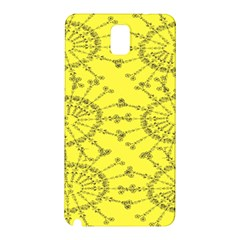 Yellow Flower Floral Circle Sexy Samsung Galaxy Note 3 N9005 Hardshell Back Case