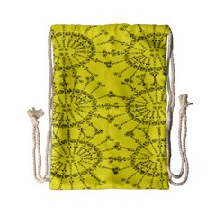 Yellow Flower Floral Circle Sexy Drawstring Bag (small)