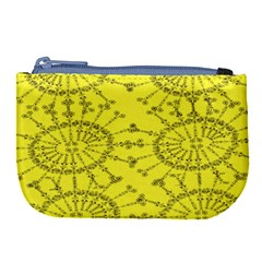 Yellow Flower Floral Circle Sexy Large Coin Purse