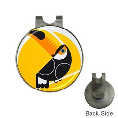 Cute Toucan Bird Cartoon Yellow Black Hat Clips With Golf Markers