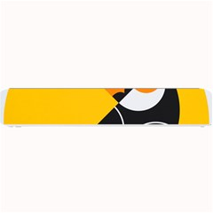 Cute Toucan Bird Cartoon Yellow Black Small Bar Mats