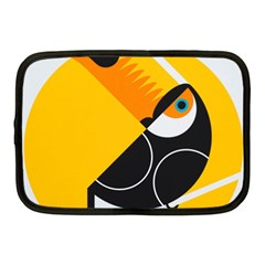 Cute Toucan Bird Cartoon Yellow Black Netbook Case (medium)