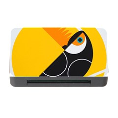 Cute Toucan Bird Cartoon Yellow Black Memory Card Reader With Cf