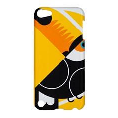 Cute Toucan Bird Cartoon Yellow Black Apple Ipod Touch 5 Hardshell Case