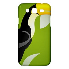 Cute Toucan Bird Cartoon Fly Yellow Green Black Animals Samsung Galaxy Mega 5 8 I9152 Hardshell Case