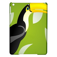Cute Toucan Bird Cartoon Fly Yellow Green Black Animals Ipad Air Hardshell Cases