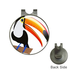 Cute Toucan Bird Cartoon Fly Hat Clips With Golf Markers
