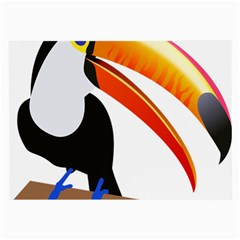 Cute Toucan Bird Cartoon Fly Large Glasses Cloth