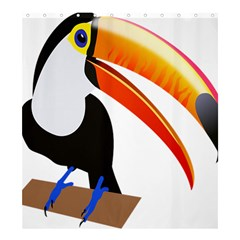 Cute Toucan Bird Cartoon Fly Shower Curtain 66  X 72  (large)