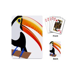 Cute Toucan Bird Cartoon Fly Playing Cards (mini)