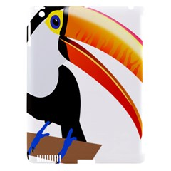 Cute Toucan Bird Cartoon Fly Apple Ipad 3/4 Hardshell Case (compatible With Smart Cover)