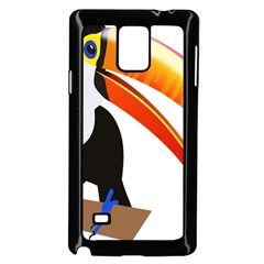Cute Toucan Bird Cartoon Fly Samsung Galaxy Note 4 Case (black)