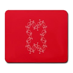 Cycles Bike White Red Sport Large Mousepads