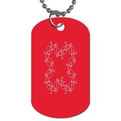 Cycles Bike White Red Sport Dog Tag (one Side)