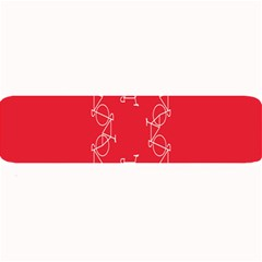 Cycles Bike White Red Sport Large Bar Mats