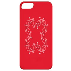 Cycles Bike White Red Sport Apple Iphone 5 Classic Hardshell Case