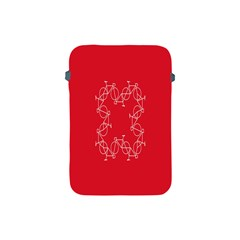 Cycles Bike White Red Sport Apple Ipad Mini Protective Soft Cases
