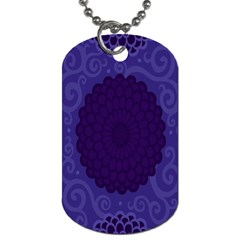 Flower Floral Sunflower Blue Purple Leaf Wave Chevron Beauty Sexy Dog Tag (one Side)