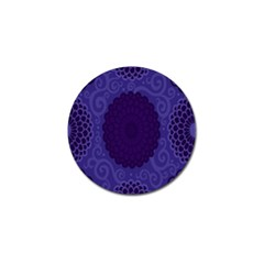 Flower Floral Sunflower Blue Purple Leaf Wave Chevron Beauty Sexy Golf Ball Marker