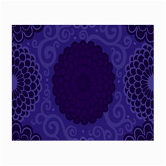 Flower Floral Sunflower Blue Purple Leaf Wave Chevron Beauty Sexy Small Glasses Cloth