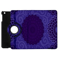 Flower Floral Sunflower Blue Purple Leaf Wave Chevron Beauty Sexy Apple Ipad Mini Flip 360 Case