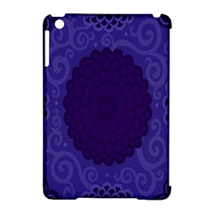 Flower Floral Sunflower Blue Purple Leaf Wave Chevron Beauty Sexy Apple Ipad Mini Hardshell Case (compatible With Smart Cover)