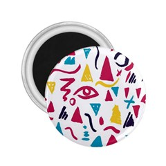 Eye Triangle Wave Chevron Red Yellow Blue 2 25  Magnets