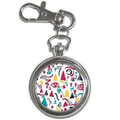 Eye Triangle Wave Chevron Red Yellow Blue Key Chain Watches