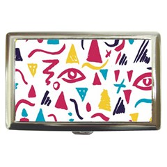Eye Triangle Wave Chevron Red Yellow Blue Cigarette Money Cases
