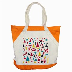 Eye Triangle Wave Chevron Red Yellow Blue Accent Tote Bag