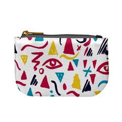 Eye Triangle Wave Chevron Red Yellow Blue Mini Coin Purses