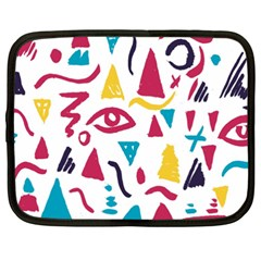 Eye Triangle Wave Chevron Red Yellow Blue Netbook Case (xxl)