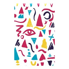 Eye Triangle Wave Chevron Red Yellow Blue Shower Curtain 48  X 72  (small)