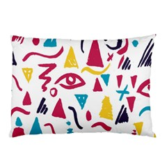 Eye Triangle Wave Chevron Red Yellow Blue Pillow Case (two Sides)
