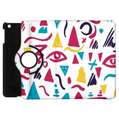 Eye Triangle Wave Chevron Red Yellow Blue Apple Ipad Mini Flip 360 Case