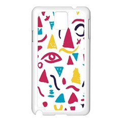 Eye Triangle Wave Chevron Red Yellow Blue Samsung Galaxy Note 3 N9005 Case (white)